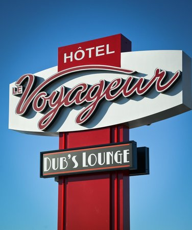Hôtel Le Voyageur : Enseigne