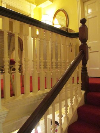 Kilronan House: Gorgeous banister of staircase to second floor