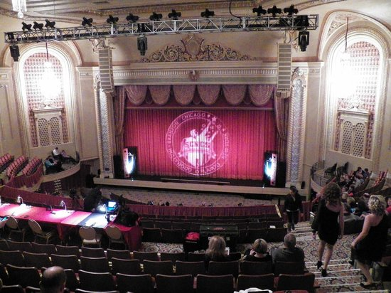 Genesee Theatre: picture of the stage from the balcony seating
