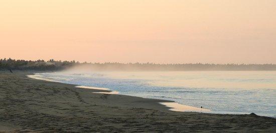 Aurore sur la playa blanca vers Potosi