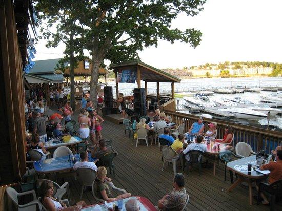 Dog Days Bar & Grill: Sunset on the Veranda!