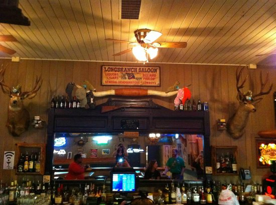 Three Fingered Jack's Saloon: Points for spotting the stuffed walrii.