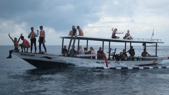 One of manta 39 s boat picture of manta dive gili air gili - Manta dive gili air ...