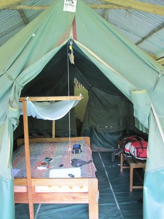 The Buhoma Community Rest Camp: The self-contained tent