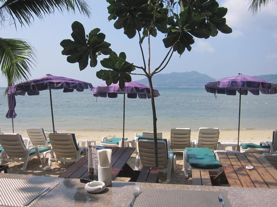 Tri Trang Beach Resort: The wonderful view from the bar/restaurant