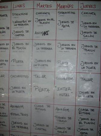 Virgo Hotel and Spa - Las Lenas: Actividades de la semana