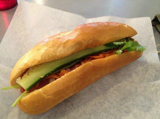 M-Saigon Vietnamese Noodle House: Vietnamese bbq pork bahn mi sandwich - delicious!