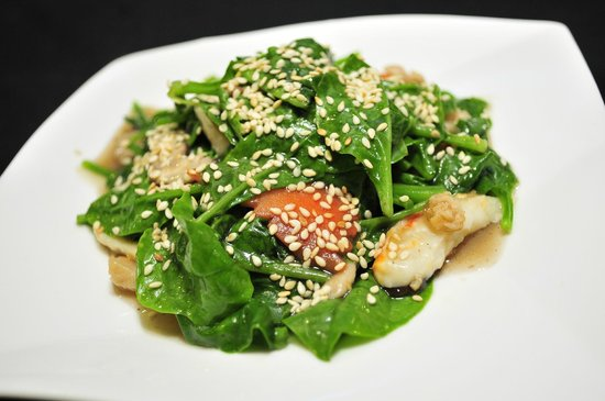 Man Yuan Fang: 麻香帝皇苗(芝麻) Stir Fried Ceylon Spinach With Sesame