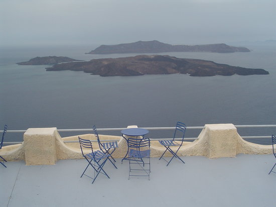 Fira, Greece: Volcano view from Santo Wines