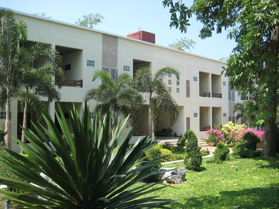 Garden Lodge: Neue Flachdachhäuser am Pool