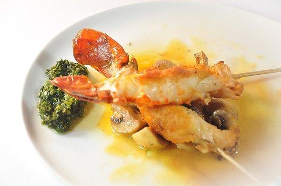 Restaurante Pescatore: Pincho de langosta