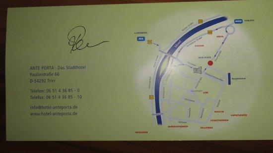 ante porta - Das Stadthotel : Location of Hotel