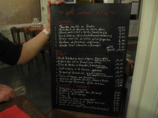 Le Casanova : Le menu