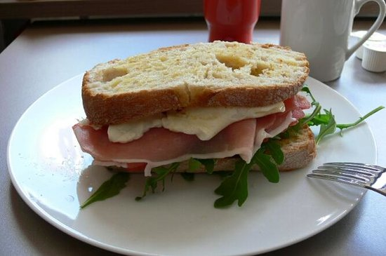 "Adagio Aix-en-Provence Centre: a close up view of our homemade delicious ""the Adagio sandwich"" as we called it."