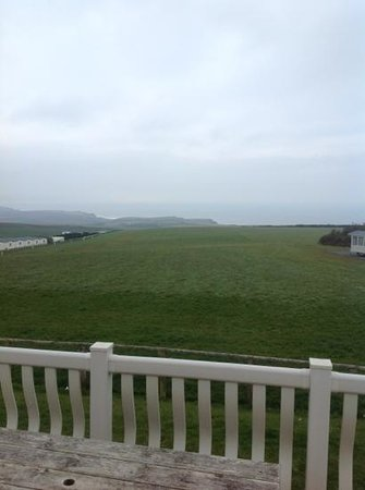 Sandymouth Holiday Resort: view from the caravan number 15