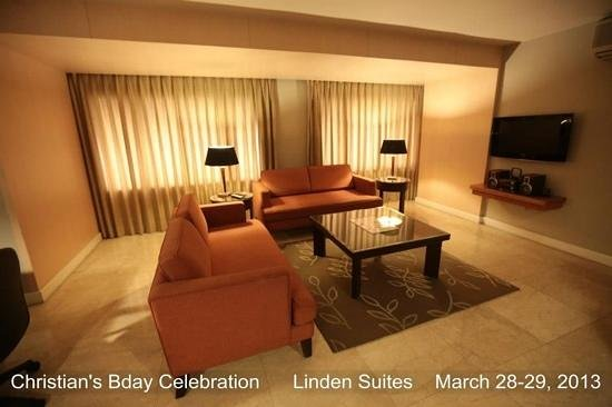The Linden Suites: living room