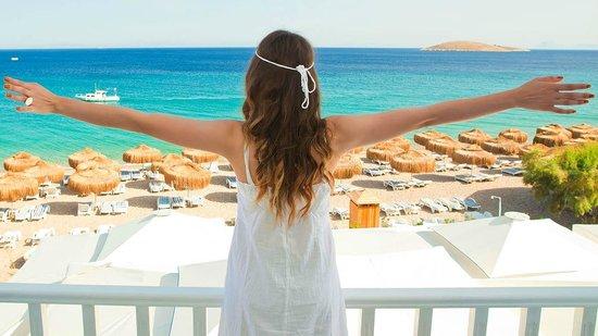 Mavi Beyaz Hotel: Mavi Beyaz view