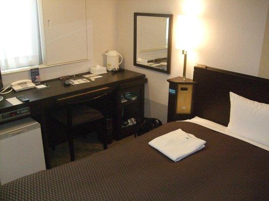 Nishitetsu Inn Kochi Harimayabashi: 部屋写真、まあ十分なサイズ