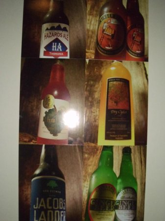 Weldborough Hotel: Some of the beers