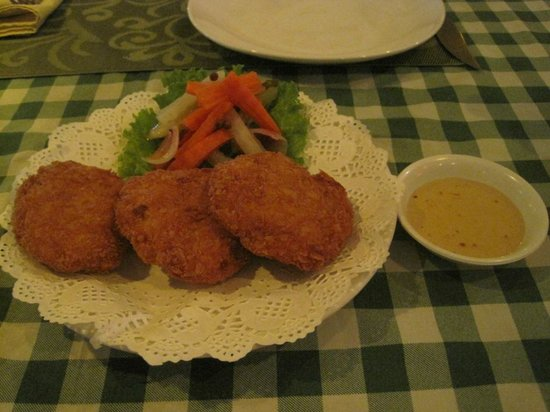 The Orchid Garden: prawn cakes