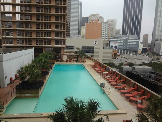 The Fairmont Dallas: pool view from room