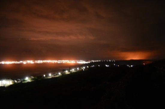 At Whale-Phin Guest House: View to Mossel Bay at Night