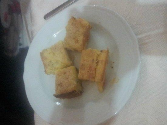 Osteria Casale del Poggio: gateau di patate