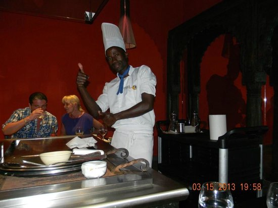 Iberostar Grand Hotel Bavaro: Our chef at the Japanese Restaurant... The best of the Restaurants on site