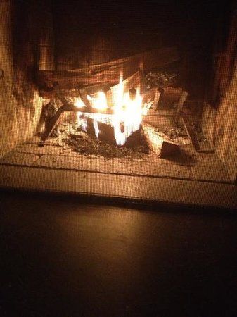 Inn at Middleton Place: Fireplace in every room