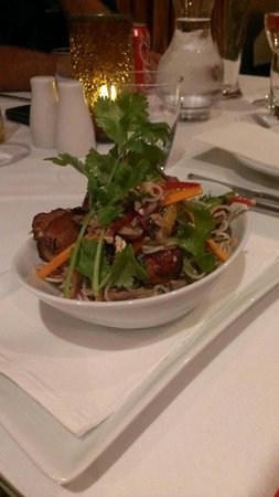 Restaurant Mystique: Duck & Crispy Pork Belly Salad