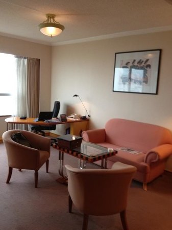 Melia Hanoi: My working desk and living room suite