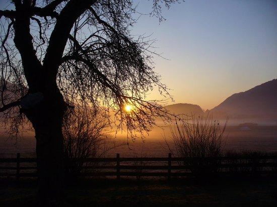 Heidis Welt: Guten Morgen! S- onnenaufgang in Podlanig.