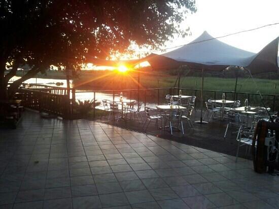 Oranjerus Resort: oranjerus sunset....fantastic food fantastic view.