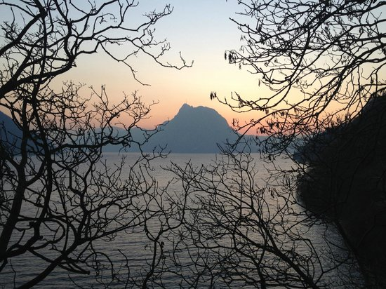 Lugano, Switzerland: One of the trail's beautiful dusks