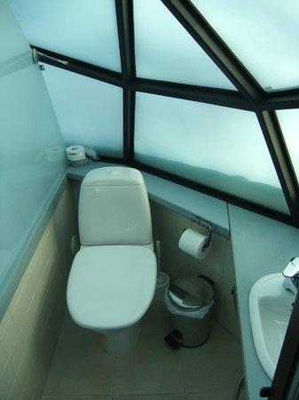Kakslauttanen Arctic Resort : bathroom glass igloo