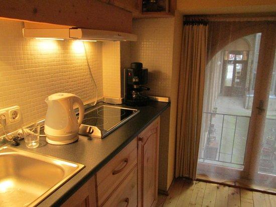 Green Dream Apartment: Galley Kitchen