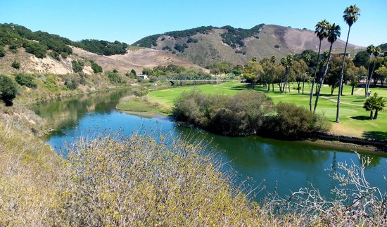 San Luis Bay Inn: Part of the golf course and walking path that we walked