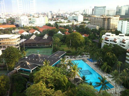 Hotel Borobudur Jakarta: Belle vue