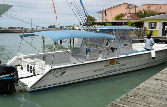 Antigua Boat Tours: Our Vessel (Ms Mac) Moored at Heritage Quay in St Johns