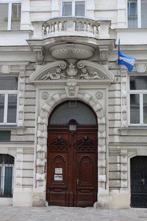 Pension Residenz: der Eingang