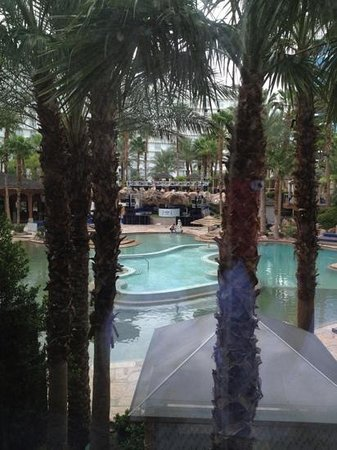 Hard Rock Hotel and Casino: View of pool from room
