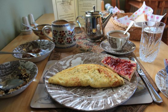 Kilburn House Farmhouse Bed and Breakfast: Cheese Omelette
