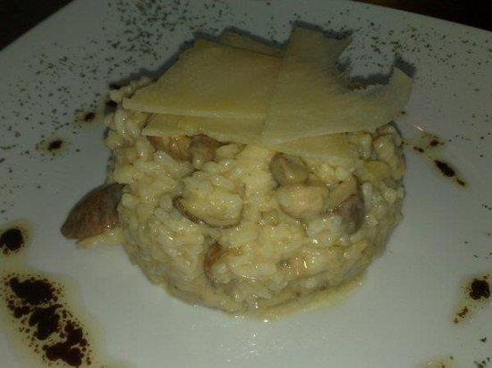 Manzano S/L: Arroz cremoso con boletus y foie