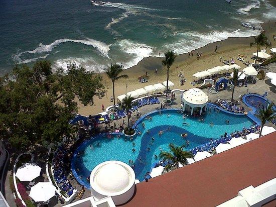 Tesoro Manzanillo: Vista desde el balcon de la habitación