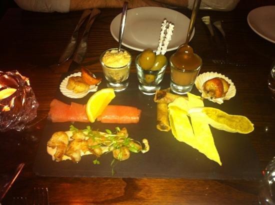 Grassington House: sharing starter platter