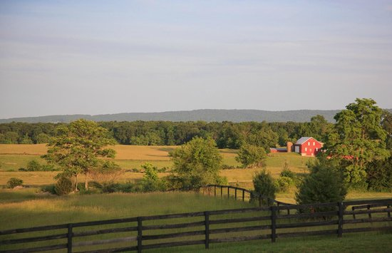 View of Boyce Farm from the Porch at L'Auberge Provencale