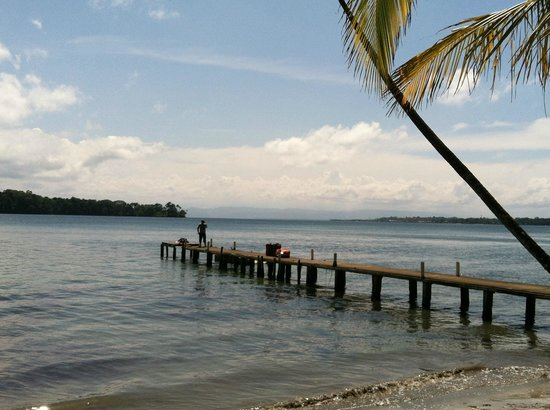 Punta Rica Beach & Jungle Villa: The dock - sadly, with our bags packed and ready to be picked up