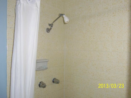 Laguna Beach Lodge: Shower head not good for tall people