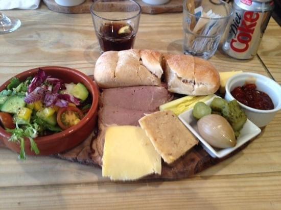 Panizzi: a lovely platter.  scrumptious