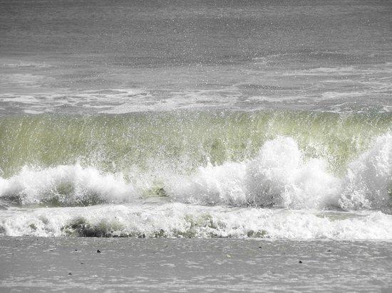 Ocean City Beach: ...Nice waves...Nice cold seawater too!!.....